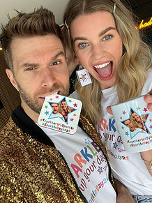 Joel Dommett and Hannah Cooper sparkle for charity Brain Tumour Support