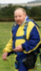 Philip Millington after doing a skydive to raise money for Brain Tumour Support