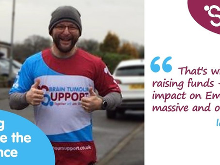 Ian and Holly run for Support