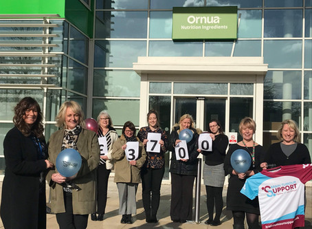 Ornua Nutrition Ingredients raises  £3,700 for Brain Tumour Support
