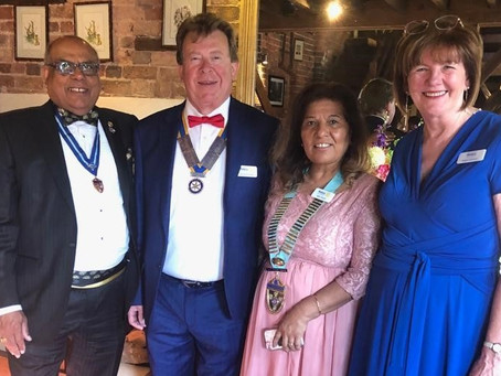 Rotary Club of Yardley and Sheldon donates £2,390 to Brain Tumour Support
