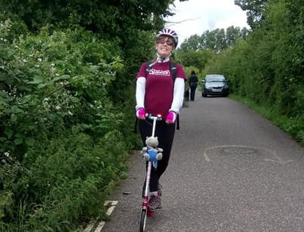 Brain tumour survivor scoots 12 miles to raise funds for Brain Tumour Support