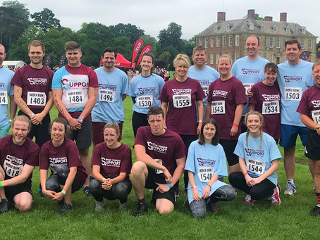 Family and friends conquer the Wolf Run