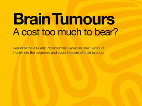 APPGBT publishes report on financial cost of brain tumours