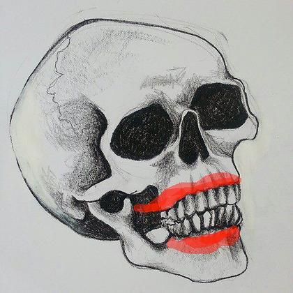 Skull Lipstick T-Shirt