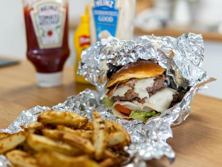Healthy 'Five Guys' Bacon Cheeseburger