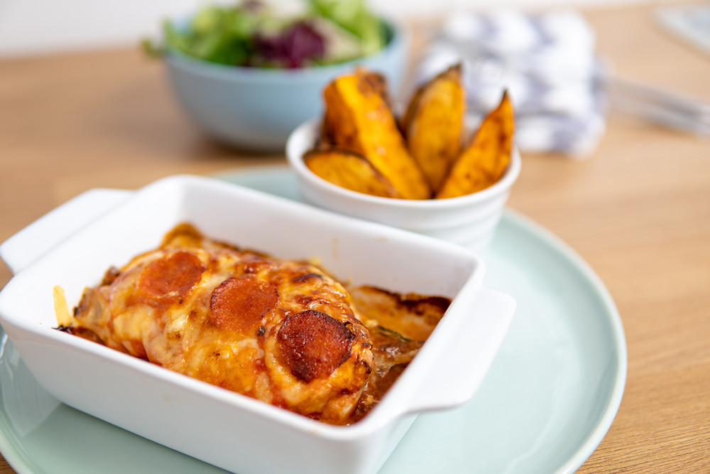 Check out Fat Loss Feasts Low Calorie Pizza Chicken. It's syn free and low ww points.