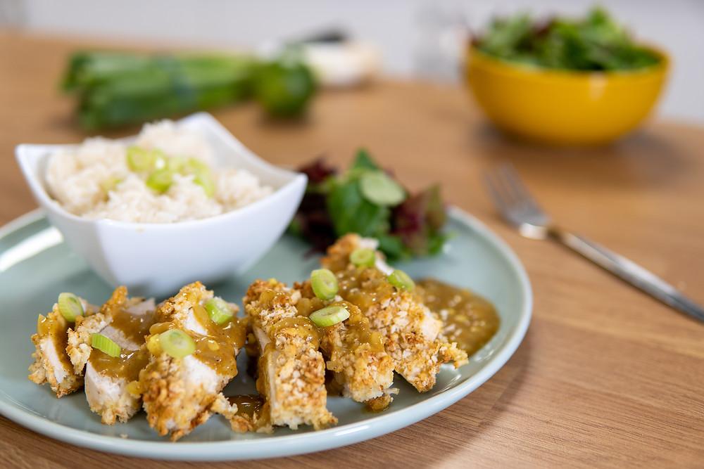 A Gerodie'd version of Chicken Katsu.