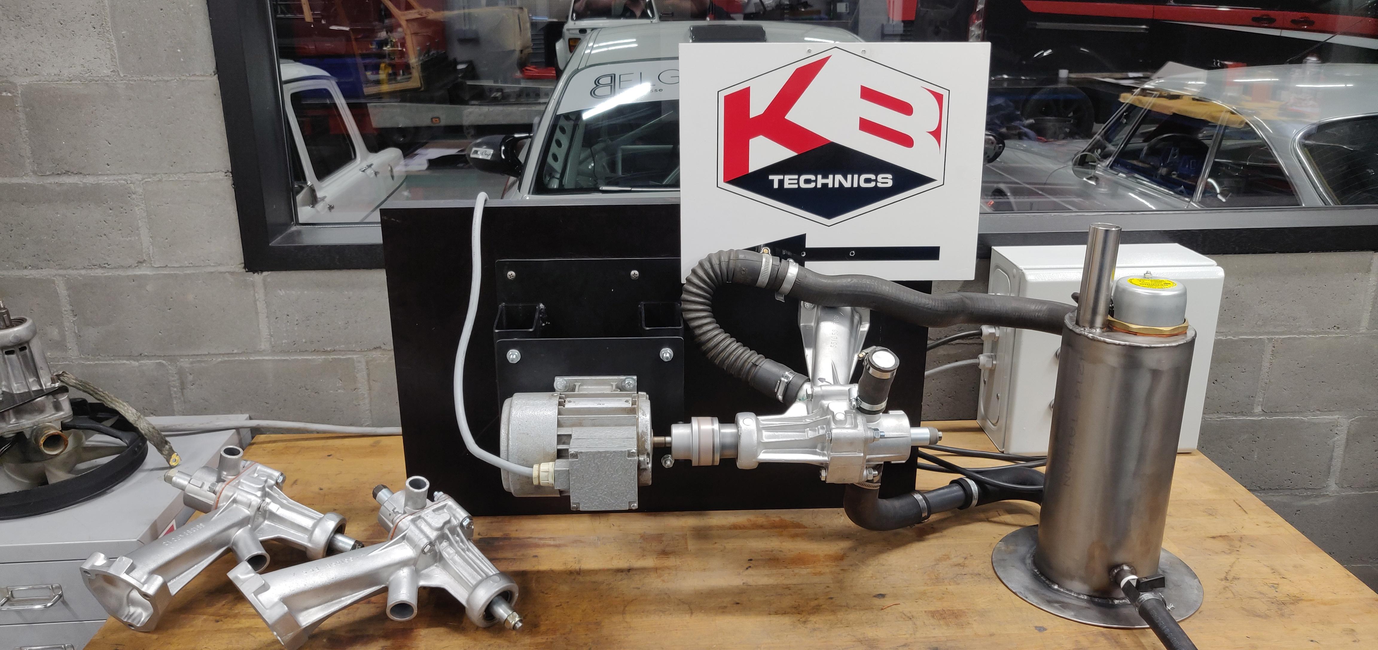 Water pump test bench