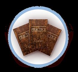 Three Practice books in circle no screen