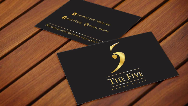 Cartões de visita para banda The Five (SE)