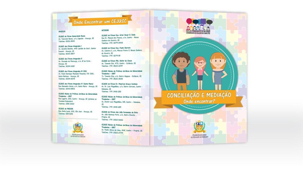 Folder para campanha de conciliação do TJSE