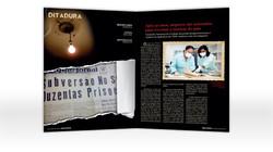 Proj. gráfico e diagramação de matéria da revista Judiciarium premiada no Congresso Brasileiro de As