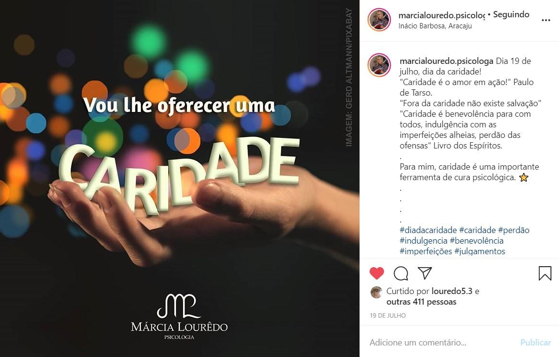 Criação de arte para publicação no Instagram