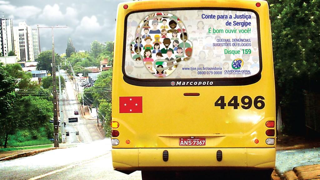 Busdoor para campanha de divulgação da Ouvidoria do TJSE para 2016