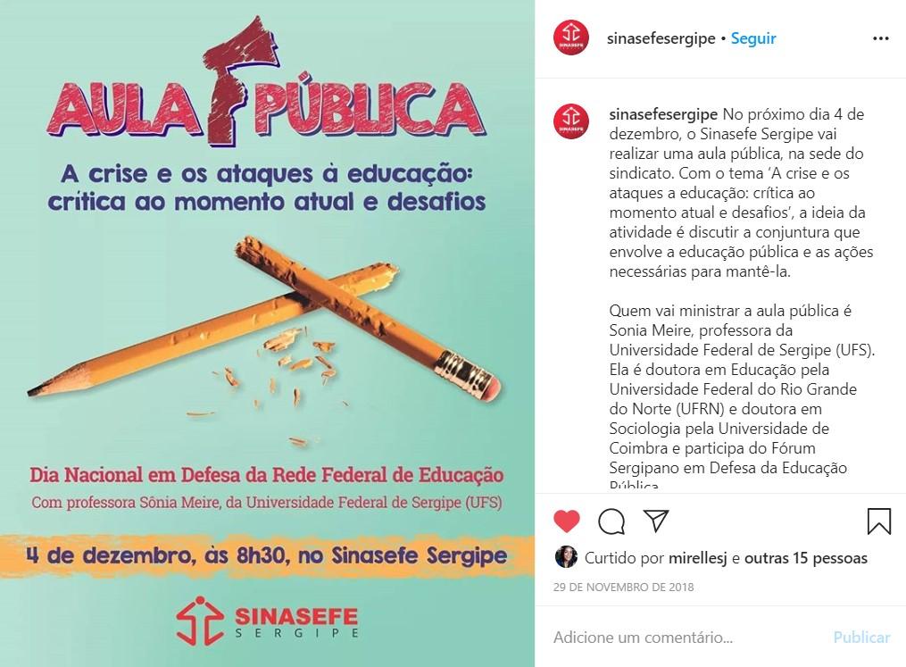 Card para publicação no Instagram