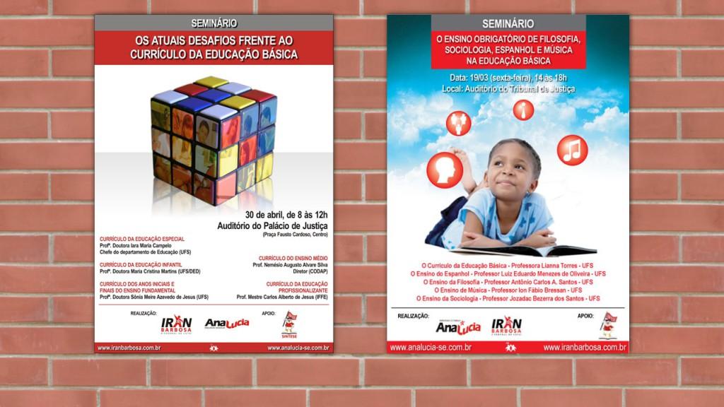 Cartazes para eventos educativos (2010)