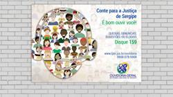 Cartaz para campanha de divulgação da Ouvidoria do TJSE para 2016