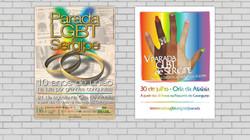 Material de divulgação - Parada LGBT de Sergipe (cartazes)