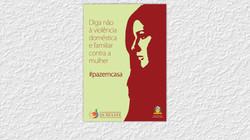 Cartaz para campanha da Coordenadoria da Mulher do TJSE