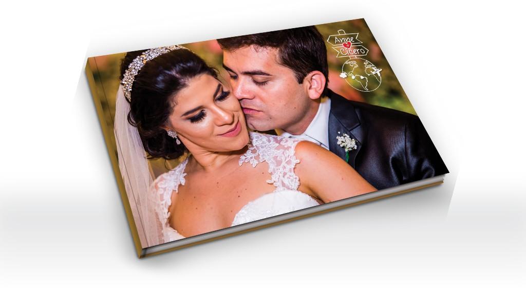 Arte e diagramação de álbum de casamento