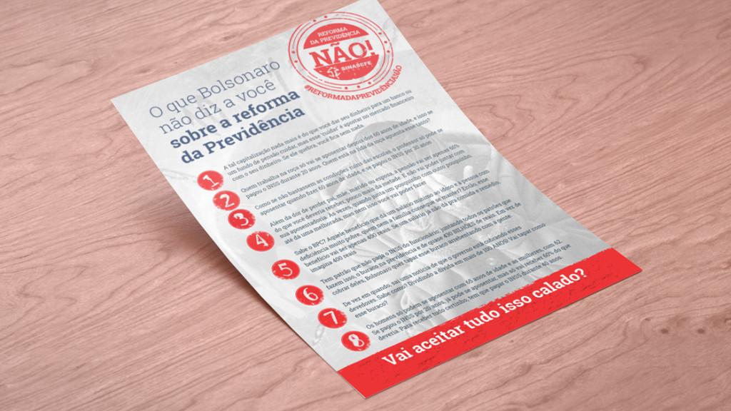 Panfleto de mobilização para ações do Sinasefe (SE)