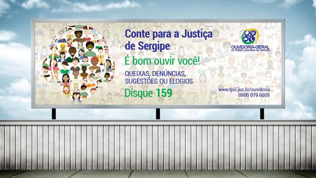 Outdoor para campanha de divulgação da Ouvidoria do TJSE para 2016