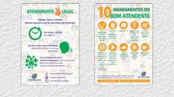 Cartazes para campanha de endomarketing da Ouvidoria do TJSE (2015)