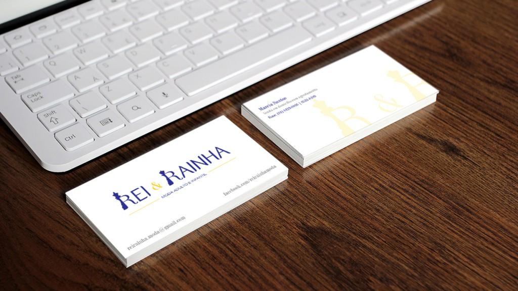 Cartão de visita para Rei & Rainha (PE)