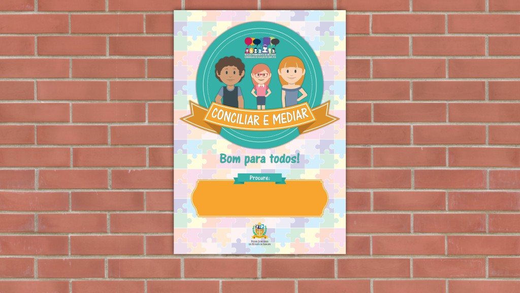 Cartaz para campanha de conciliação do TJSE