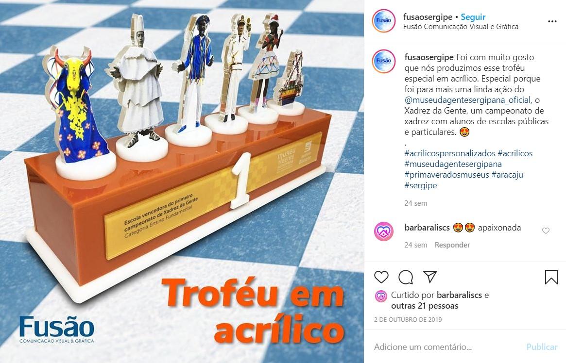 """Publicação """"troféu especial em acrílico"""" (criação, produção gráfica e redação)"""