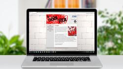Montagem de website do projeto (2010)
