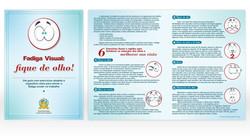 Folder informativo para campanha interna de saúde do TJSE