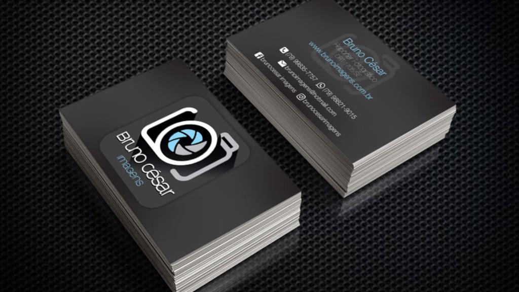 Cartões de visita para o fotógrafo Bruno César (SE)