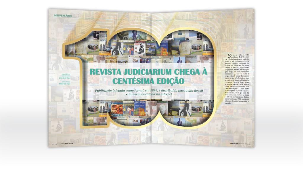 Proj. gráfico e diagramação da revista Judiciarium do TJSE (2013-2017)