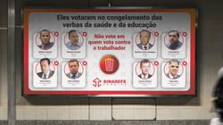 Banner para campanha promovida pelo Sinasefe (SE)
