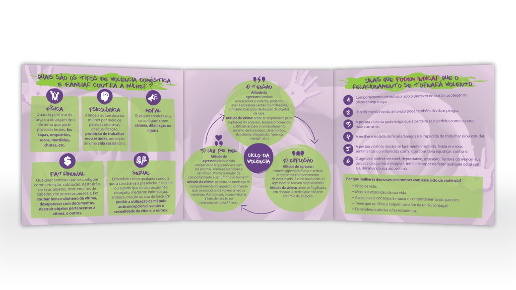 Folder de conscientização da Coordenadoria da Mulher do TJSE