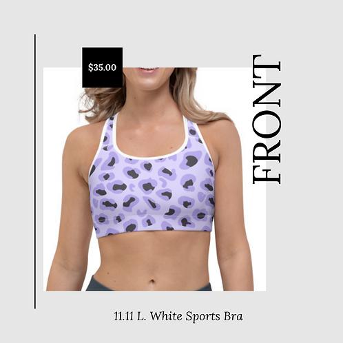 11.11 L. White Sports Bra
