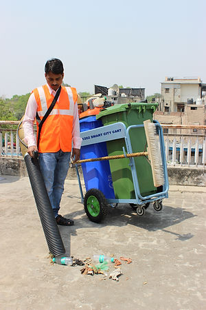 Smart City Cart with Vacuum Litter Picker