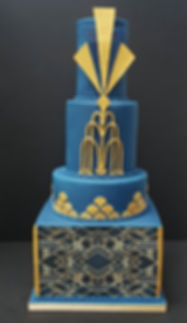 navy and gold art deco wedding cake.jpg