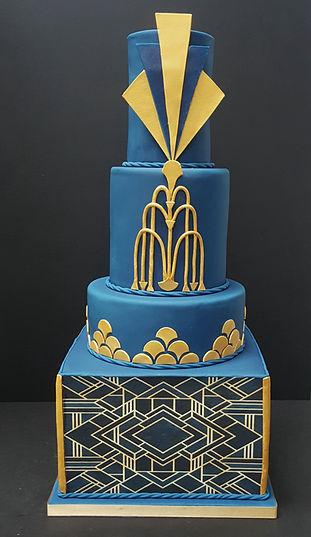 navy and gold art deco wedding cake.jpg