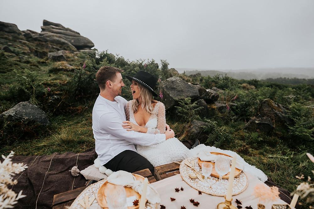 peak district wedding cake