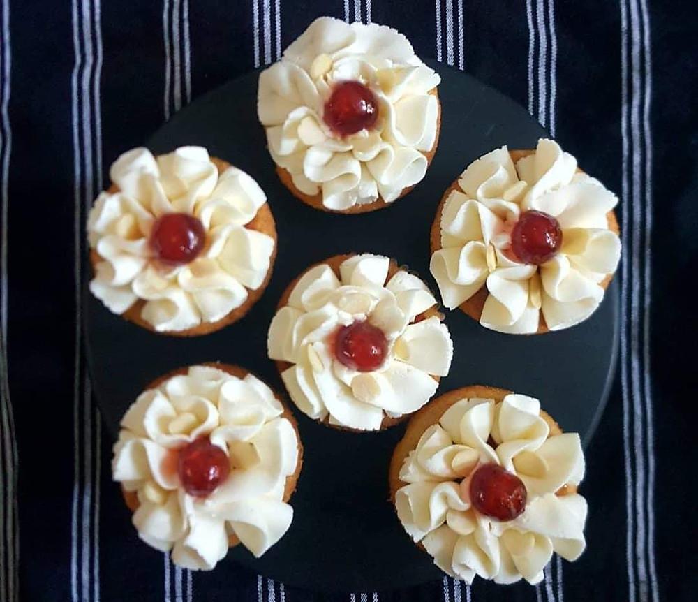 Vegan Bakewell Tart Cupcakes by Urban Cakehouse