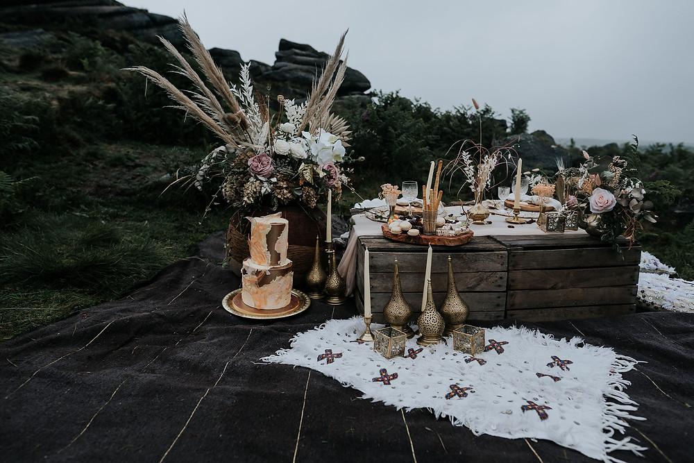 peak district wedding, boho wedding