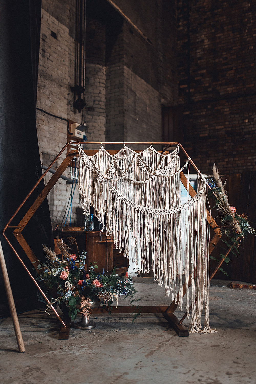 macrame arch, by bespoke events and styling.