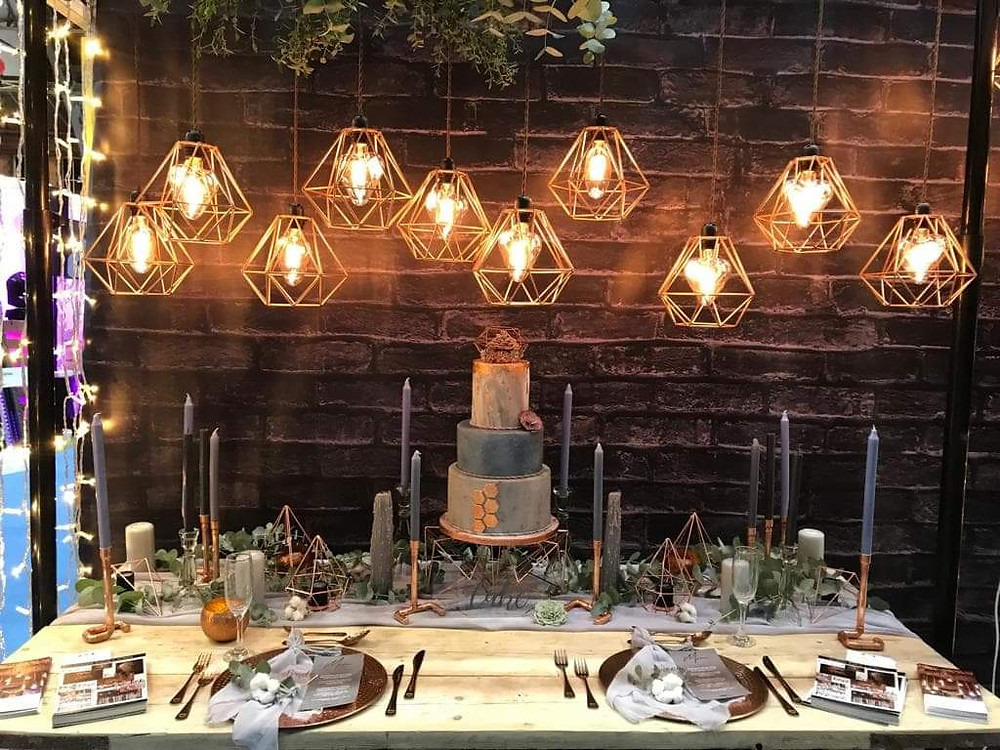 Cake - Urban Cakehouse. Styling - Bespoke Events & Styling. Lights - Peter Lockwood Events