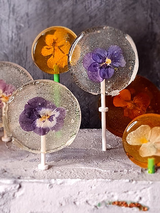 Edible Organic Flower Lollipops