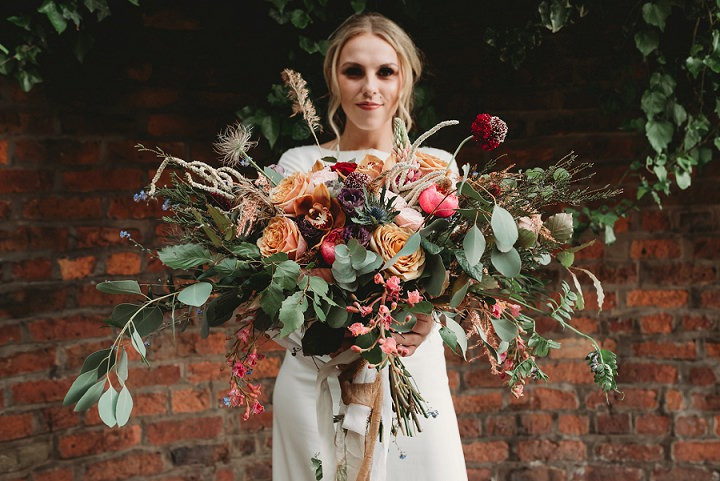 Model and flowers - styled shoot
