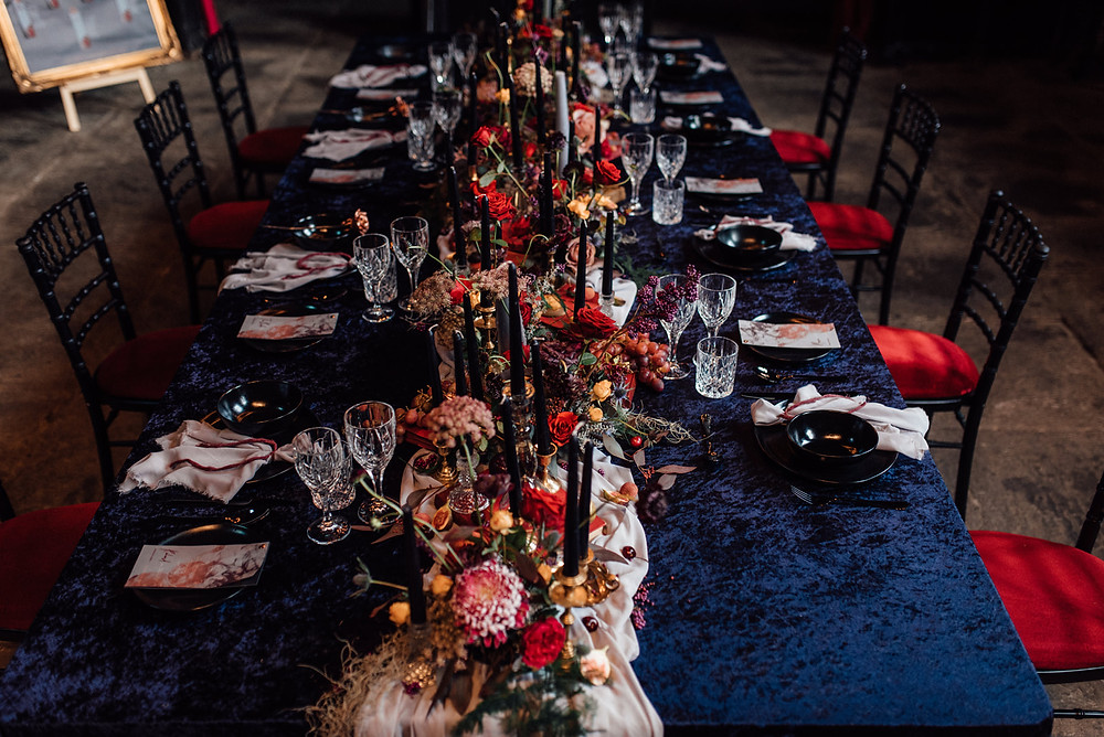 wedding feast table