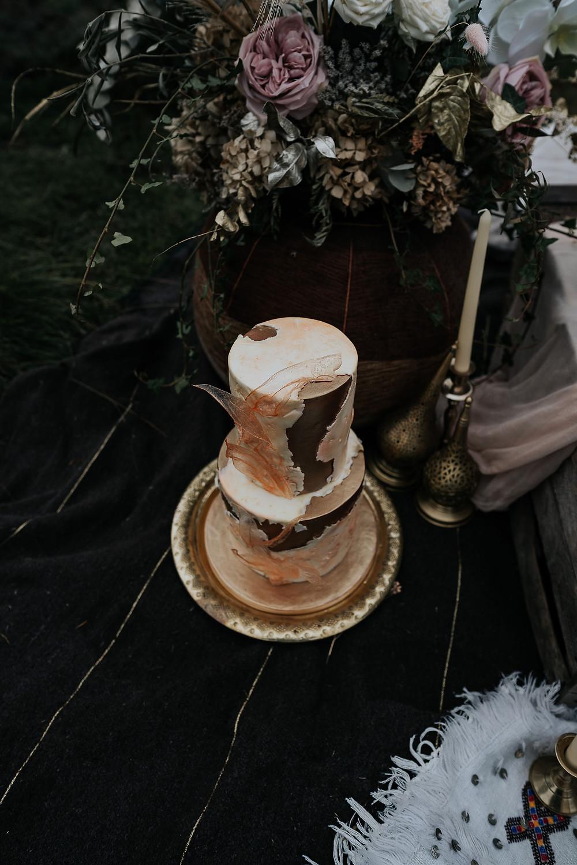 peak district wedding cake, outdoor wedding cake